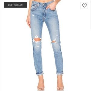 LEVI'S 501 S Revolve Faded Distressed Jeans Skinny